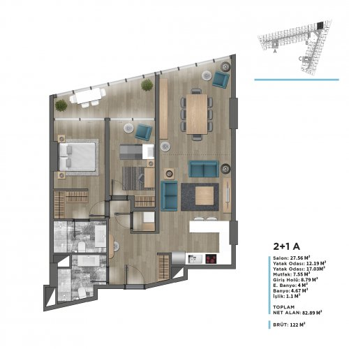 2 Bedroom Residence Apartments With Sea View In Beylikdüzü