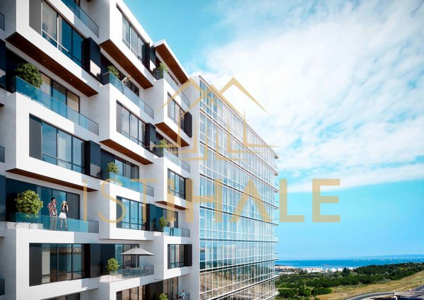 Luxury residence apartments with sea view in Beylikdüzü